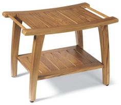 Teak Shower Bench - traditional - Shower Benches & Seats - Grandin Road  $140
