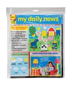 """My Daily News Toy---make your own. Give kids confidence by helping them """"control"""" their day."""