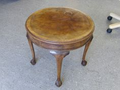 Beautiful Side Table With Ball & Claw Feet Overall GC ------------------ £45 (PC874)