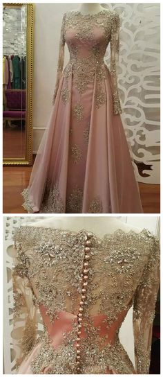 2018 A-line Prom Dresses Scoop Long Sleeve Pink Applique Long Prom Dress Evening Dresses prom dresses long,prom dresses lace,prom dresses a line,prom dresses modest,prom dresses dresses satin,prom dresses applique, prom dresses with sleeve dress pink Classy Prom Dresses, Gorgeous Prom Dresses, Sparkly Prom Dresses, Junior Prom Dresses, Simple Prom Dress, Prom Dresses For Teens, Elegant Prom Dresses, A Line Prom Dresses, Unique Dresses