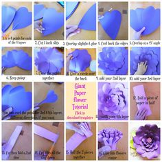 Step by Step Giant Paper flowers. Templates available. How to make paper… Step by Step Giant Paper flowers. Templates available. How to make paper… Step by Step Giant Paper flowers. Templates available. How to make paper… Big Paper Flowers, Tissue Flowers, How To Make Paper Flowers, Paper Flower Backdrop, Giant Paper Flowers, Flower Garlands, Diy Flowers, Inkscape Tutorials, Diy Girlande