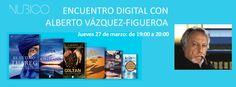 El jueves 27 de marzo, Alberto Vázquez-Figueroa se encontrará con todos sus fans en #Nubico Premium. Tendrá lugar entre las 19 y las 20 horas. https://www.facebook.com/NubicoEbook/app_190322544333196