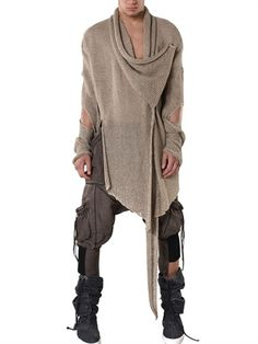 "DEMOBAZA - ""ARMOUR OVER"" LINEN VISCOSE CARDIGAN - You should have heard of the fashion gasp I just let out. I bet this moves beautifully too."