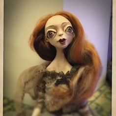 Dressed  and brushed my doll dance tomorrow in DovileDollart family shop with other girlfriends art dolls