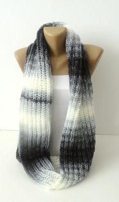 infinity knitted women scarf  loop scarf  scarves