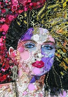 Jane Perkins uses found objects to re-create artwork