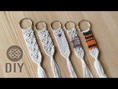 MAKE 3 DOLLAR TREE MACRAME KEYCHAINS DIY 💲 - YouTube