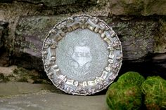 Round Repousse Butlers Tray. Vintage. by NorthMajestyTrail on Etsy