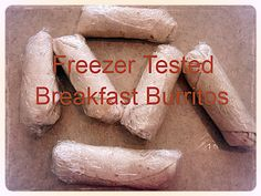 Yummy, freezable breakfast burritos! Made with bacon, but you can substitute sasauge if you prefer.