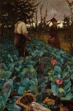 Classic Art Poster - A Cabbage Garden by Arthur Melville Garden Painting, Garden Art, Your Paintings, Landscape Paintings, Landscapes, Landscape Art, Google Art Project, Glasgow, Gardens