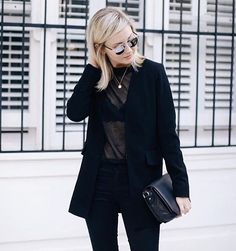Denim makes this outfit go from night to all day.  #ootd #instalike #style #fashion #lookoftheday #photooftheday #streetstyle #denim #blackonblack #dressycasual #outfitoftheday #schoenbyyu #bestfit #yournewfavorite