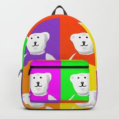 """Designing our premium Backpacks is a meticulous process, as Artists have to lay out their artwork on each component. One size fits all men and women, with heavy-duty construction that's able to handle the heavy lifting for all your school and travel needs. - Standard unisex size: 17.75"""" (H) x 12.25"""" (W) x 5.75"""" (D) - Crafted with durable spun poly fabric for high print quality - Interior pocket fits up to 15"""" laptop - Padded nylon back... Backpacks For Sale, D Craft, Designer Backpacks, One Size Fits All, Laptop, Snoopy, Handle, Construction, Artists"""