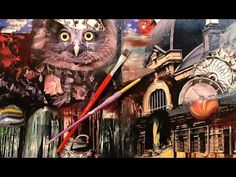 Art Journal Mixed Media Owl Pt1