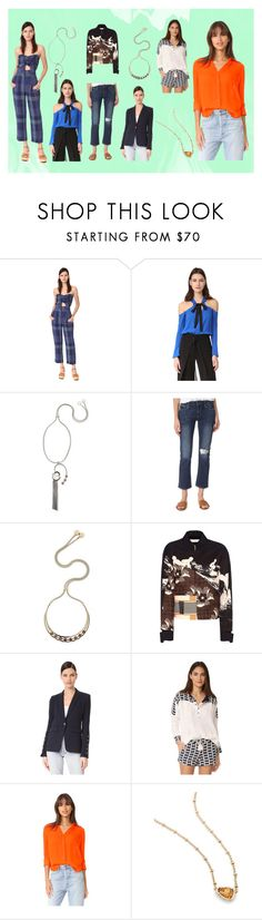 """FASHIONABLE"" by monica022 ❤ liked on Polyvore featuring Sea, New York, Yigal AzrouÃ«l, Giuliana Mancinelli, Paige Denim, Victoria Beckham, Veronica Beard, LIV, L'Agence and Kendra Scott"