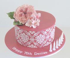 Birthday Cake Photos - ♥♥ -David Austin's Claire rose with blossoms. Claire Austin, David Austin, Single Layer Cakes, Cake Cutters, White Cakes, Cake Decorating, Decorating Ideas, Pink White, Birthday Cake