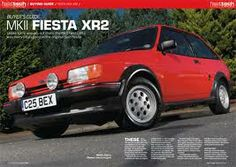 Ford Fiesta XR2 mk2. Otherwise known as 'Fierce'. Little go cart of a car. No power steering so good for the arm muscles.