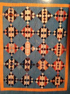 Amish quilt. #Amish #patchwork #quilting