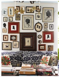 A grand silhouette gallery wall  - Swoon!!