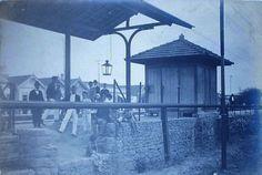 madu1909 Parte do pátio da estação de Madureira em 1909. Foto de Augusto Malta.
