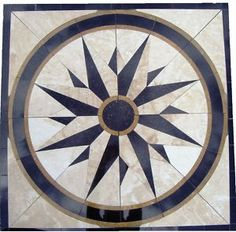 Floor Marble Medallion North Star Tile Mosaic USA Made Medallion US ...