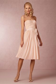 Cordelia Dress from BHLDN. Only offer 3 colors: blush, sea glass and grey. No grey allowed per Anthony lol
