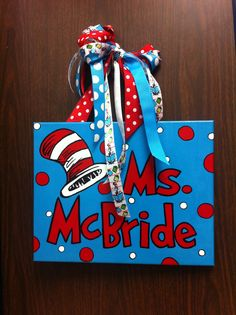 Dr. Seuss name sign. Facebook: @SouthernDrawTX