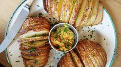 If you haven't tried a hasselback potato yet, we suggest you do! Our Smoked Chilli Mayo makes for the perfect dip...
