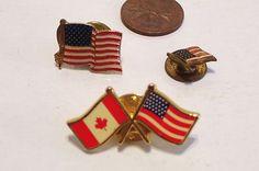 3 Vintage  USA Souvenir Pinback Buttons $13.99