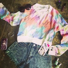 Warm up with this cool colorful crewneck!  #NYLON