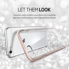 Amazon.com: iPhone 6s Plus Case, Spigen® [Neo Hybrid EX] PREMIUM BUMPER [Rose Gold] Clear TPU / PC Frame Slim Dual Layer Premium Case for iPhone 6 Plus (2014) / 6s Plus (2015) - Rose Gold (SGP11729): Cell Phones & Accessories