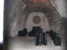 Champagne in the Tattinger caves France Vacations, Wineries, Caves, Champagne, Painting, Wine Cellars, Painting Art, Paintings, Blanket Forts