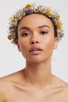 Mabel Dried Flower Crown - Green Wedding Shoes