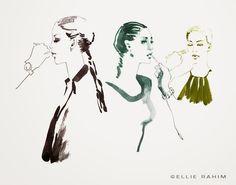 Ellie Rahim Illustration and Design: Backstage Sketches During New York Fashion Week