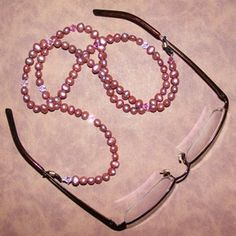 Beaded Eyeglass Lanyard - For the great grandmothers. Jonah will be all over this!