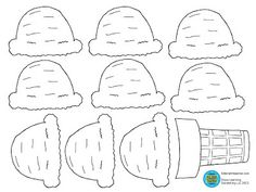 Kids Can Color And Decorate Their Cone With Name They The Scoops Of Ice Cream To Be Different Flavors
