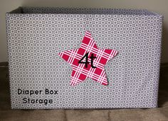 Our Pinteresting Family: Fabric Covered Diaper Boxes