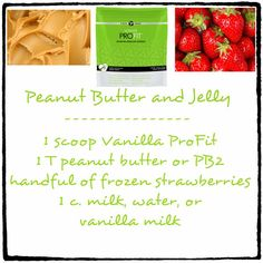 Peanut Butter And Jelly Healthy Protein Shake Recipe  http://hotmamabodywrap.com/protein-shake-recipes/
