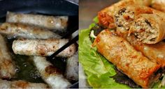 Recept na Smažené závitky – Nem rán – vietaip Asian Recipes, Food And Drink, Meat, Chicken, Cooking, Asia, Kitchen, Brewing