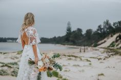 Our gorgeous Jelena tied the knot in Sydney's stunning South Coast wearing customised The One Wedding  Dress with floral sleeves Beautiful Gowns, Beautiful Bride, How To Make Shorts, How To Wear, Floral Sleeve, Flower Patterns, Knot, Brides, Coast