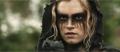 Clarke in her kickass war paint. All Dolled up and nowhere to go.