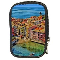 Seaside houses #boats liguria vernazza #italy digital camera case #compact leathe,  View more on the LINK: http://www.zeppy.io/product/gb/2/361195345088/