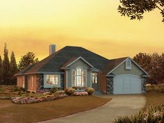 The Tundra Arts And Crafts Home has 3 bedrooms and 2 full baths. See amenities for Plan 057D-0031.