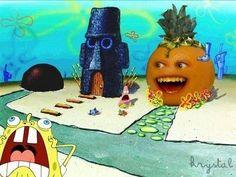 The Annoying Orange took over Spongebob's house!!! Oh no!!