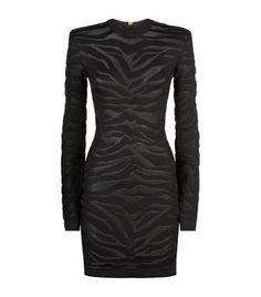 BALMAIN Tiger Knitted Dress. #balmain #cloth #