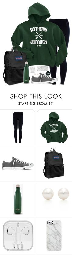 """""""IM GOING TO HARRY POTTER WORLD IN FLORIDA FOR SPRING BREAK"""" by mlainezrubi ❤ liked on Polyvore featuring NIKE, Converse, JanSport, Tiffany & Co., Uncommon and Topshop"""