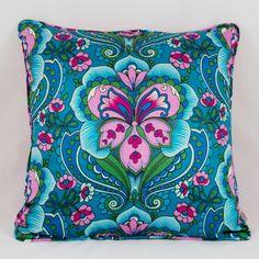 Flamboyant Fuchsia Cushion. Boho brights.
