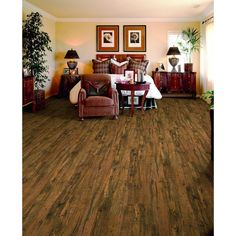Home Decorators Collection Cotton Valley Oak 12 mm Thick x 4-15/16 in. Wide x 50-3/4 in. Length Laminate Flooring (14 sq. ft. / case)-FB4853BXI1306PV - The Home Depot