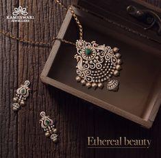 Buy Pendant Set Online Diamond Mayurika Pendant Set from Kameswari Jewellers Pendant Design, Pendant Set, Diamond Pendant, Pearl Pendant, Diamond Earrings, Stud Earrings, Diamond Bracelets, Cartier Bracelet, Bangles
