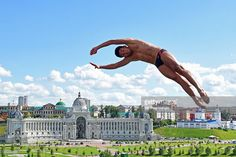 Miguel Garcia of #Colombia competes in the Men's High Diving 27m preliminary round of the 16th FINA World Championships (Photo by Matthias Hangst)   #diving #sport #photography #twist