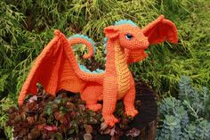 Crafty Intentions CROCHET PATTERN Dragon (printable PDF-file / 25 pages) A sweet, sleek Dragon ready to take off into the sky... right after they cuddle with you for one more minute! The effect is amigurumi-like, though there are some distinct techniques used that are not used in